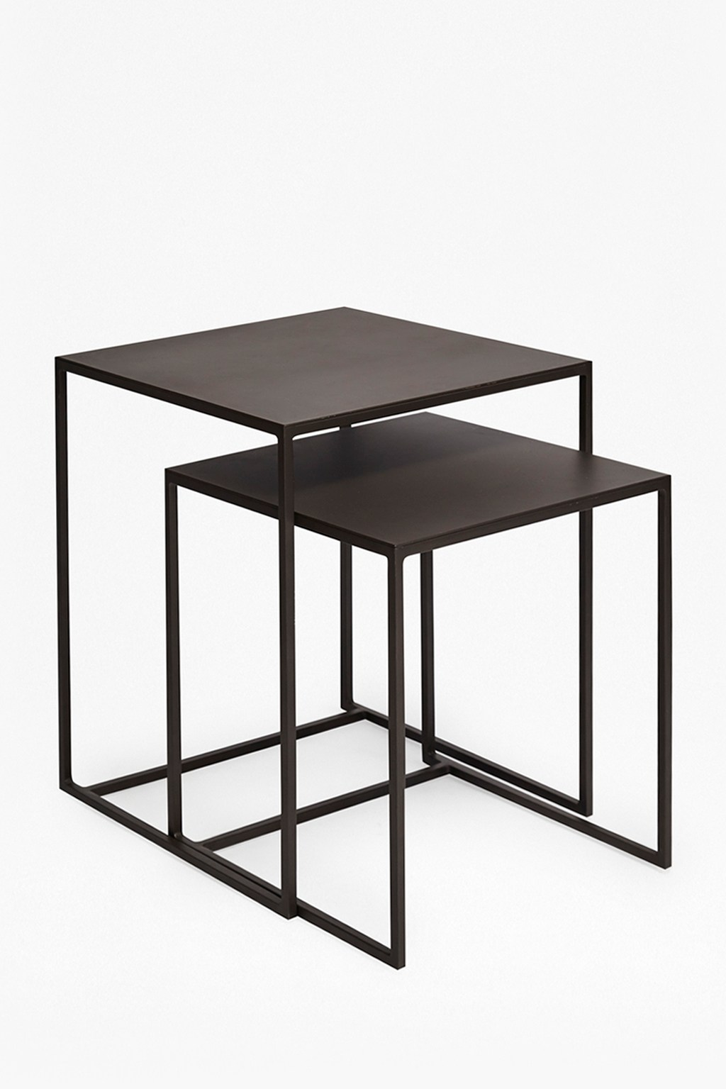 Black Metal Nesting Tables Industrial Gunmetal Nest Of Tables Collection French