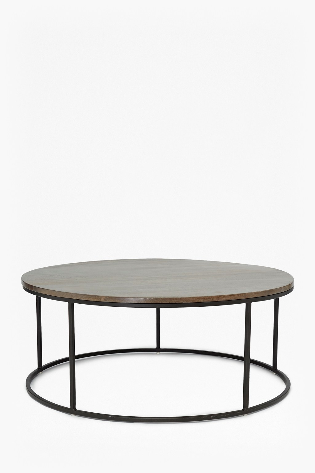 Round Industrial End Table Industrial Timber Round Coffee Table Collection French