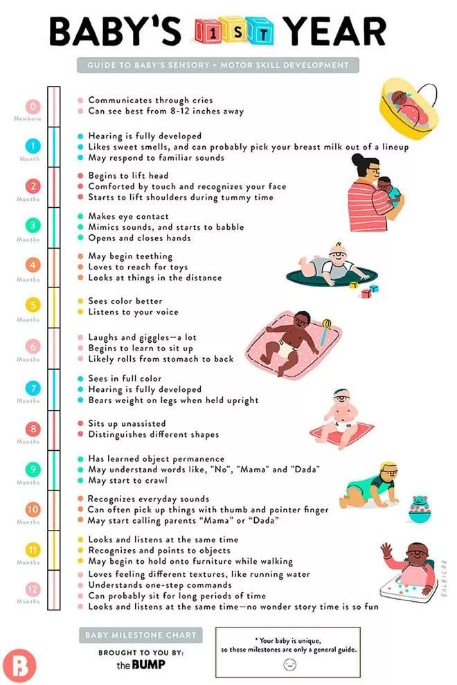 Baby Milestones Chart Template | Baby Milestones Chart Template Colbro Co