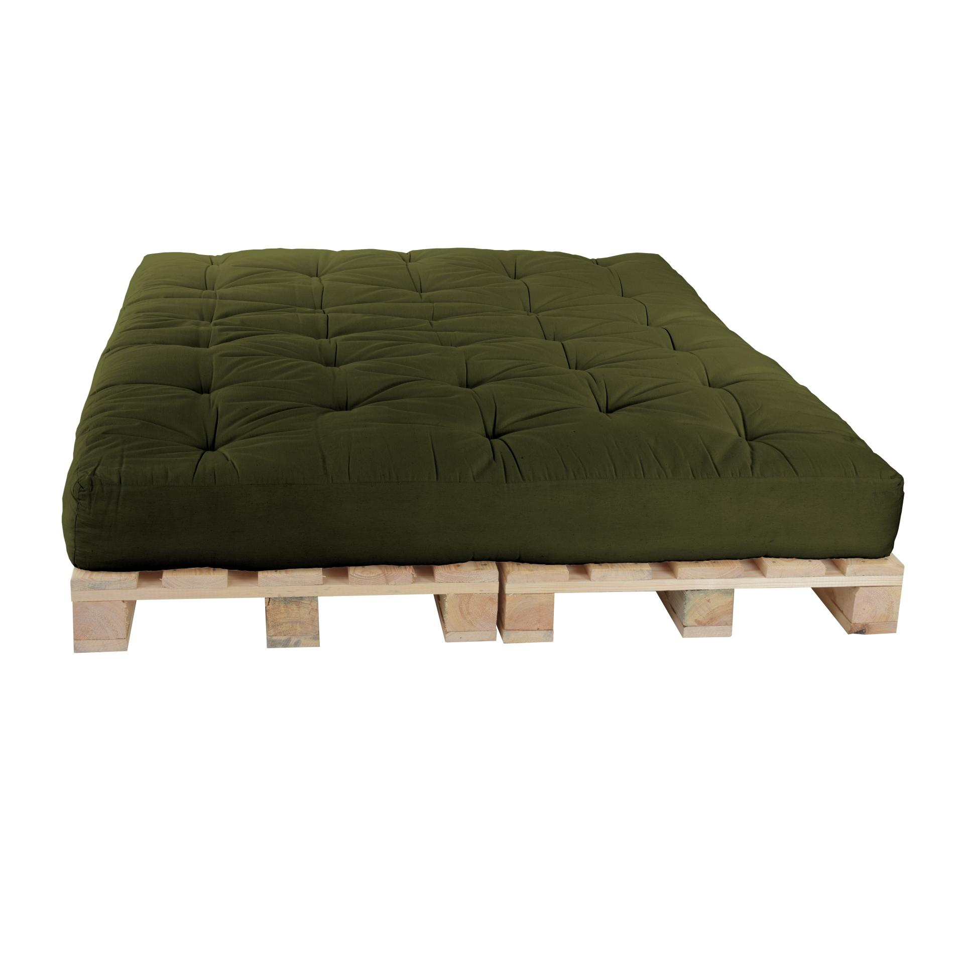 Futon World Berlin Pallet Bed 160 X 240 Cm Together With Pallets Color F52 Olive