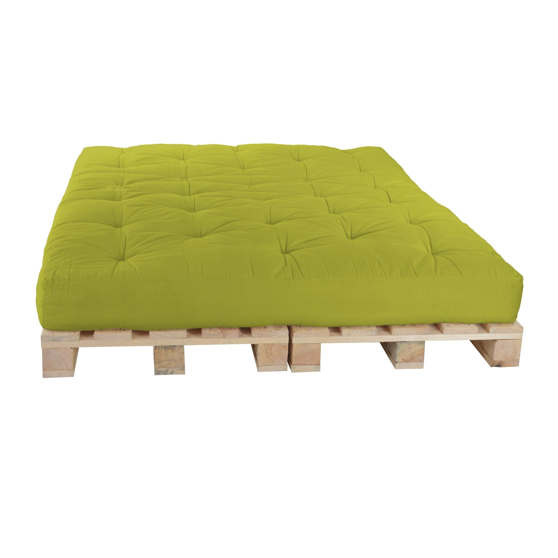 Futons Berlin Pallet Bed 160 X 240 Cm Together With Pallets Color F086 Lime