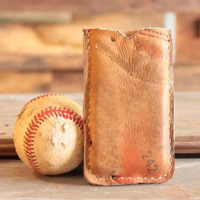 Handmade Recycled Baseball Glove iPhone Case | Gadgetsin