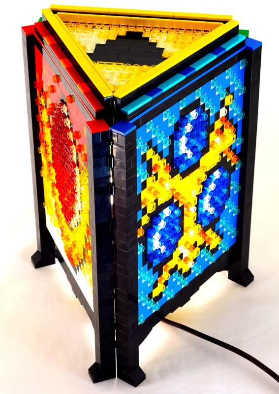Led Bulb Watt The Legend Of Zelda Inspired Lamp Built With Lego Bricks