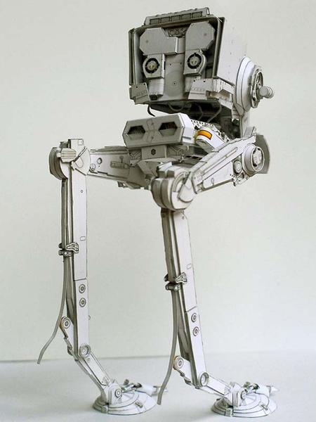 Paper Box Star Wars At-st Paper Craft | Gadgetsin