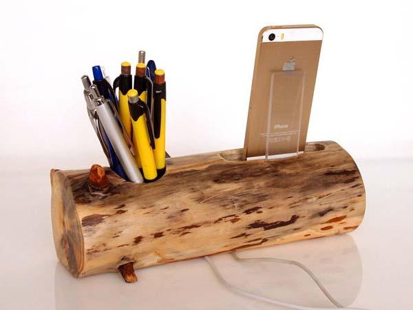 The Handmade Iphone 6 Docking Station With Pen Holder And