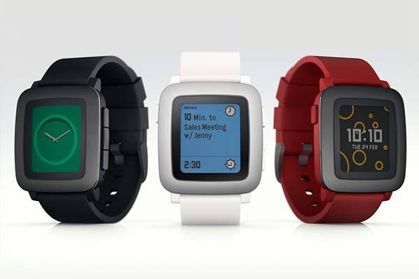 Pebble Time Smartwatch With Color E Paper Display Gadgetsin