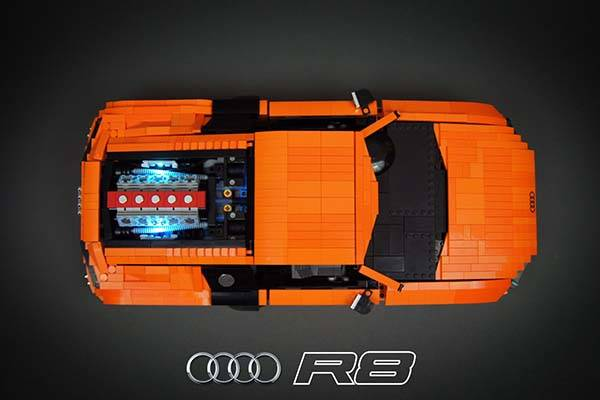 Ipad Mini Case The Awesome Rc Audi R8 V10 Supercar Built With Lego Bricks