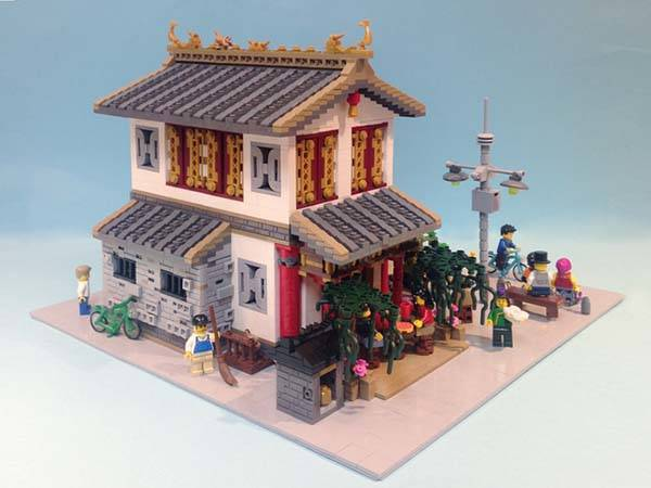 Black Doors The Chinese Dim Sun Restaurant Lego Set | Gadgetsin