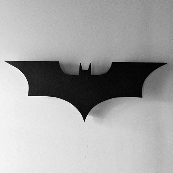 Black Wood Wallpaper The Handmade Led Wall Lamp Lets You Call Batman With His