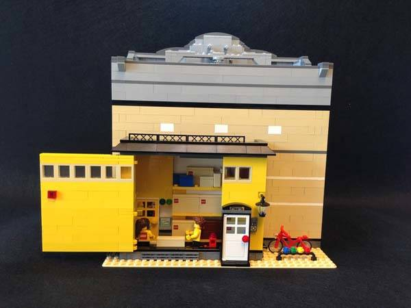 Images Of Modern Front Doors The Modular Lego Store Built With Lego Bricks | Gadgetsin