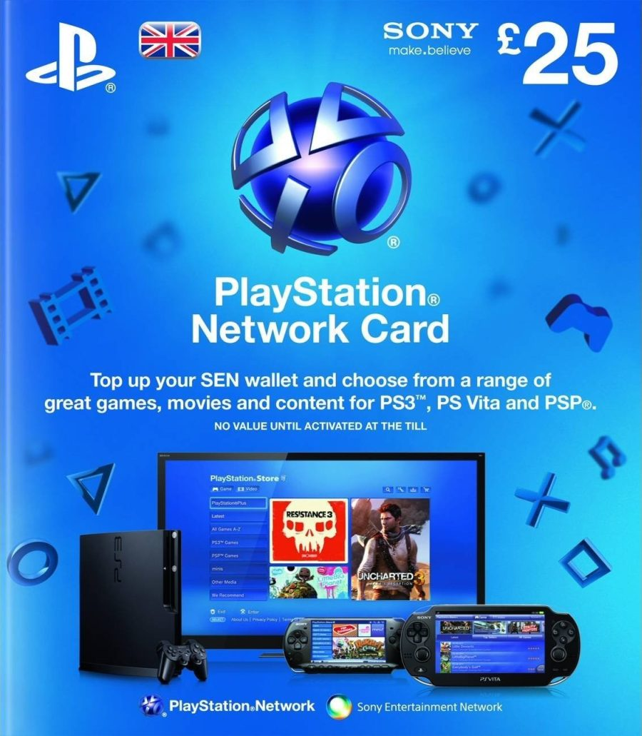 Ps Store Karte Psn Dopuna Kredita Za Ps4 I Ps3 25 Uk Nalog Playstation Network Wallet Kartica 25