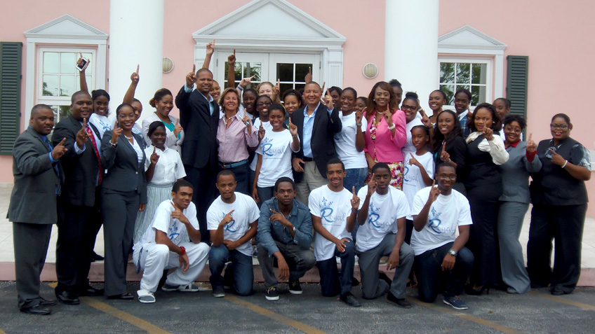 GBPA ROYALS Crowned Company of the Year - Grand Bahama Port - junior achievement bahamas