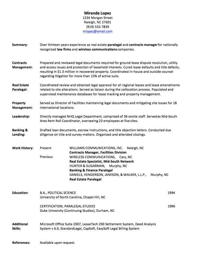 job resume job history