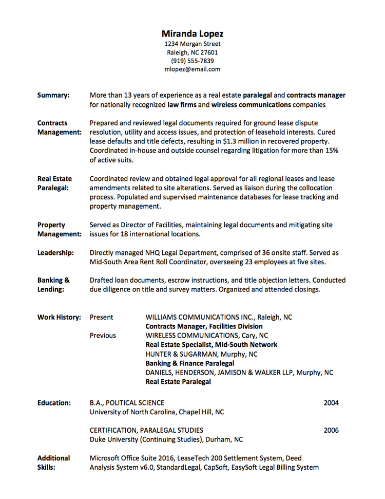 Resume Writing Employment History - Full Page - what do resumes look like