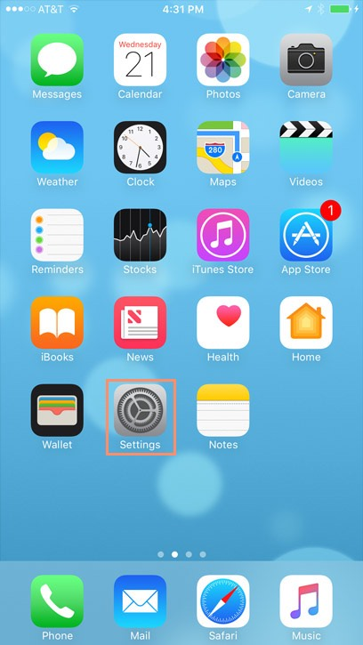 iPhone Basics Security and General Settings - apps symbol