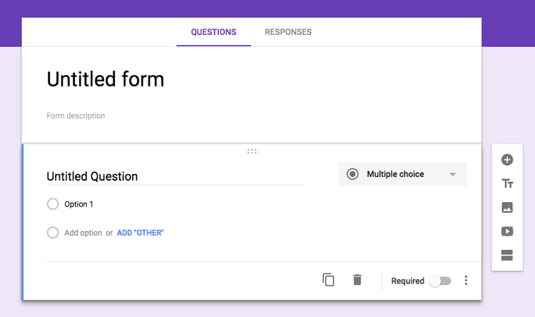 Google Forms Creating Simple Forms