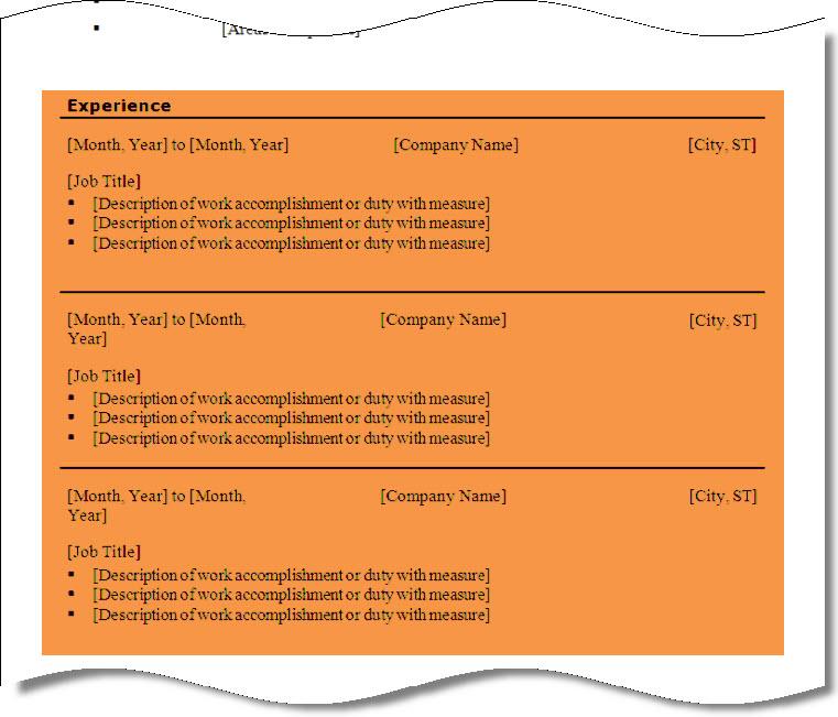 no work history resume templatebillybullock - employment history template