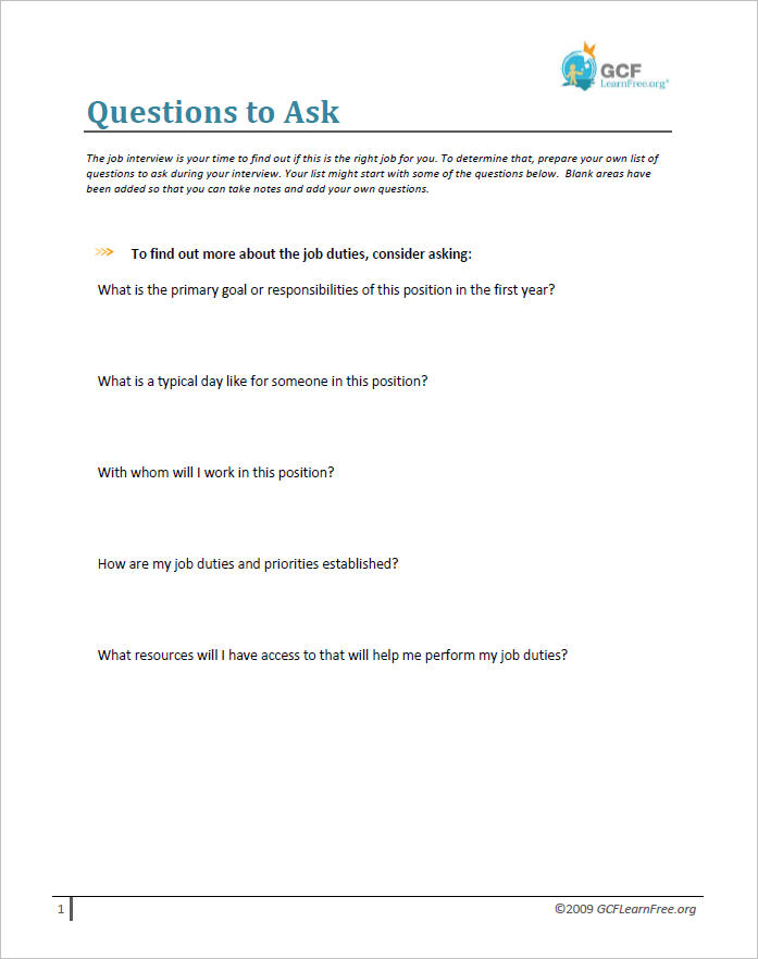 Interviewing Skills What to Prepare Before an Interview Print Page