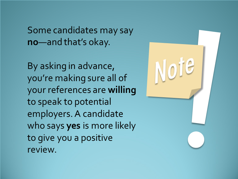 Job Applications Obtaining References