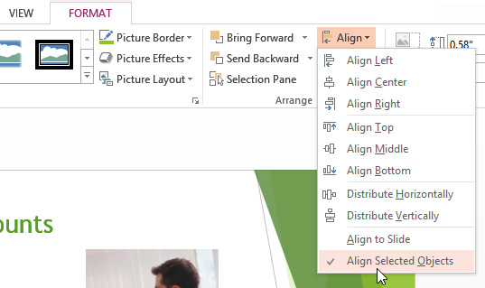 PowerPoint 2013 Arranging Objects