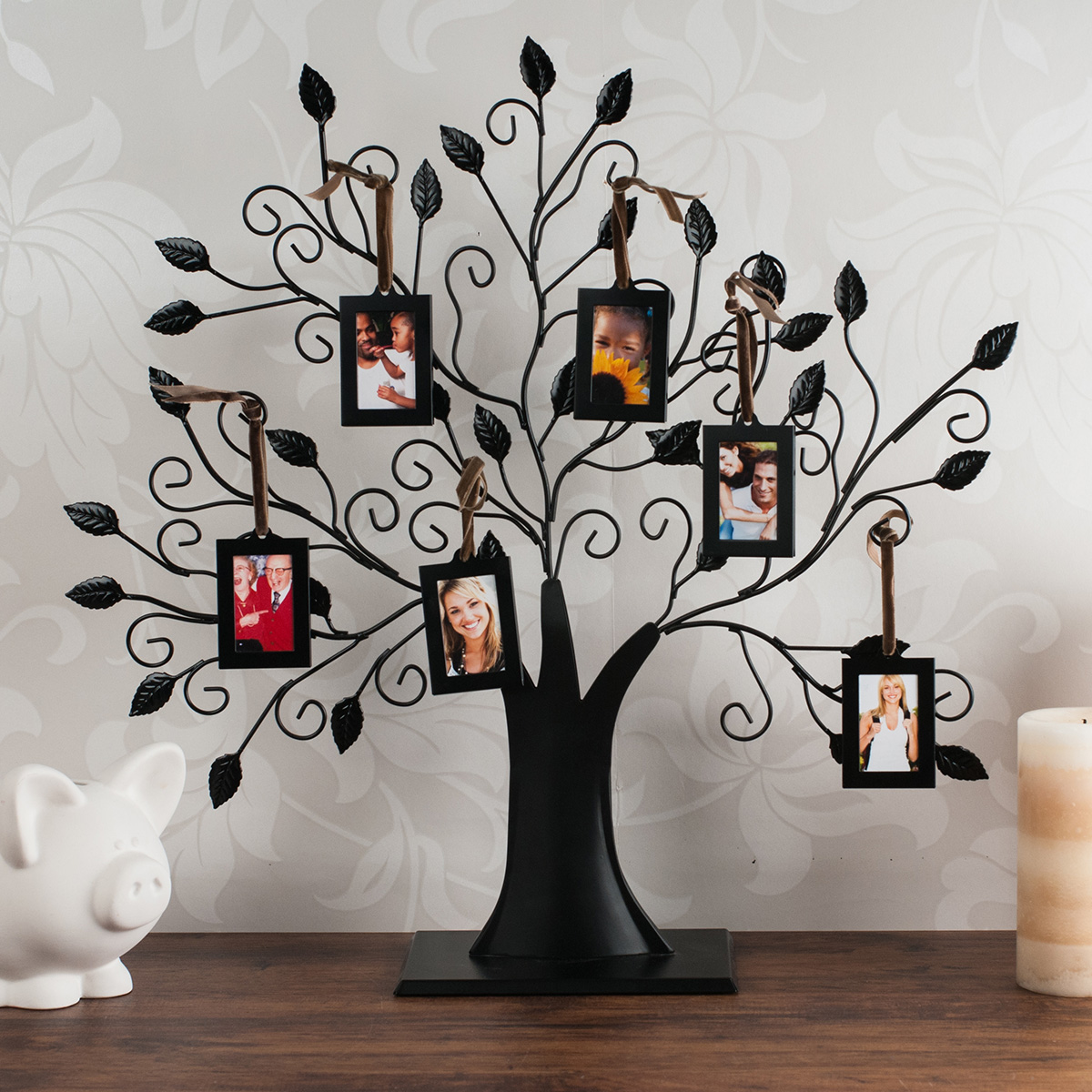 Family Tree 6 Picture Frame Gettingpersonalcouk