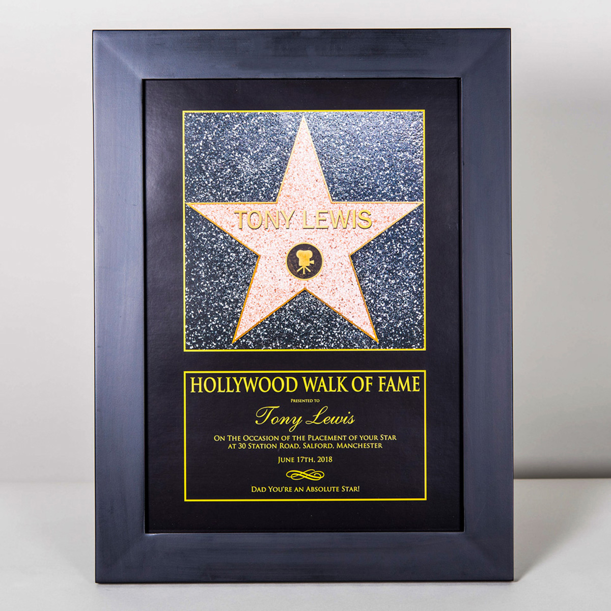 Star Themed Gifts Personalised Hollywood Walk Of Fame Star Gettingpersonal