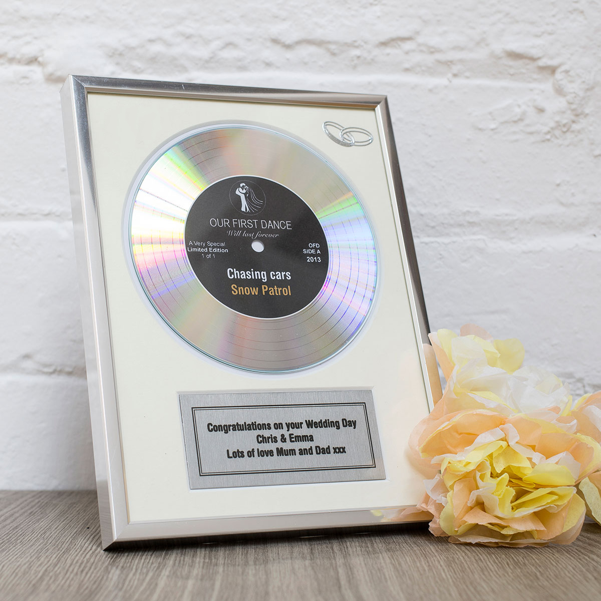 personalised first dance gold didi disc 1st wedding anniversary gift