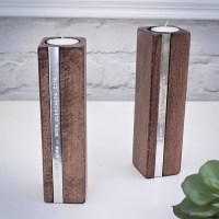 Personalised Wooden Candle Holders | GettingPersonal.co.uk