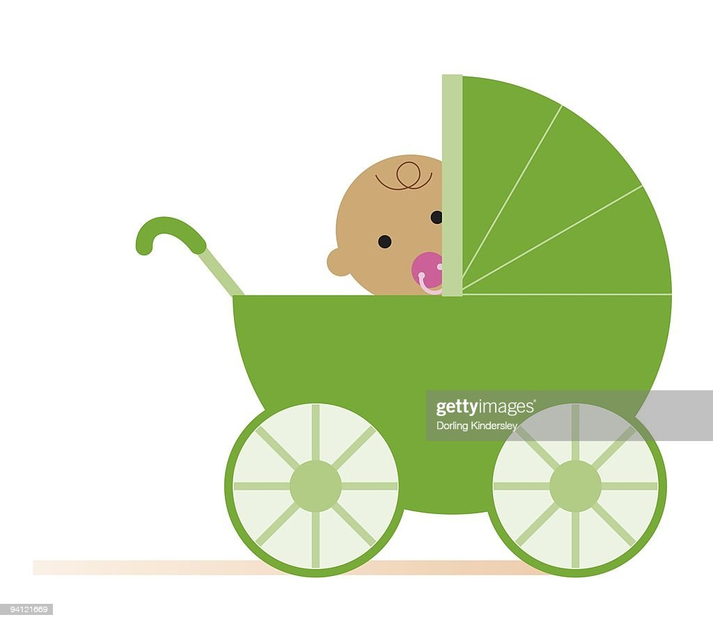 White Newborn Prams Carriage Stock Illustrations And Cartoons Getty Images