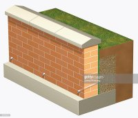 Retaining Wall With Drainage Pipes Illustration | Getty Images