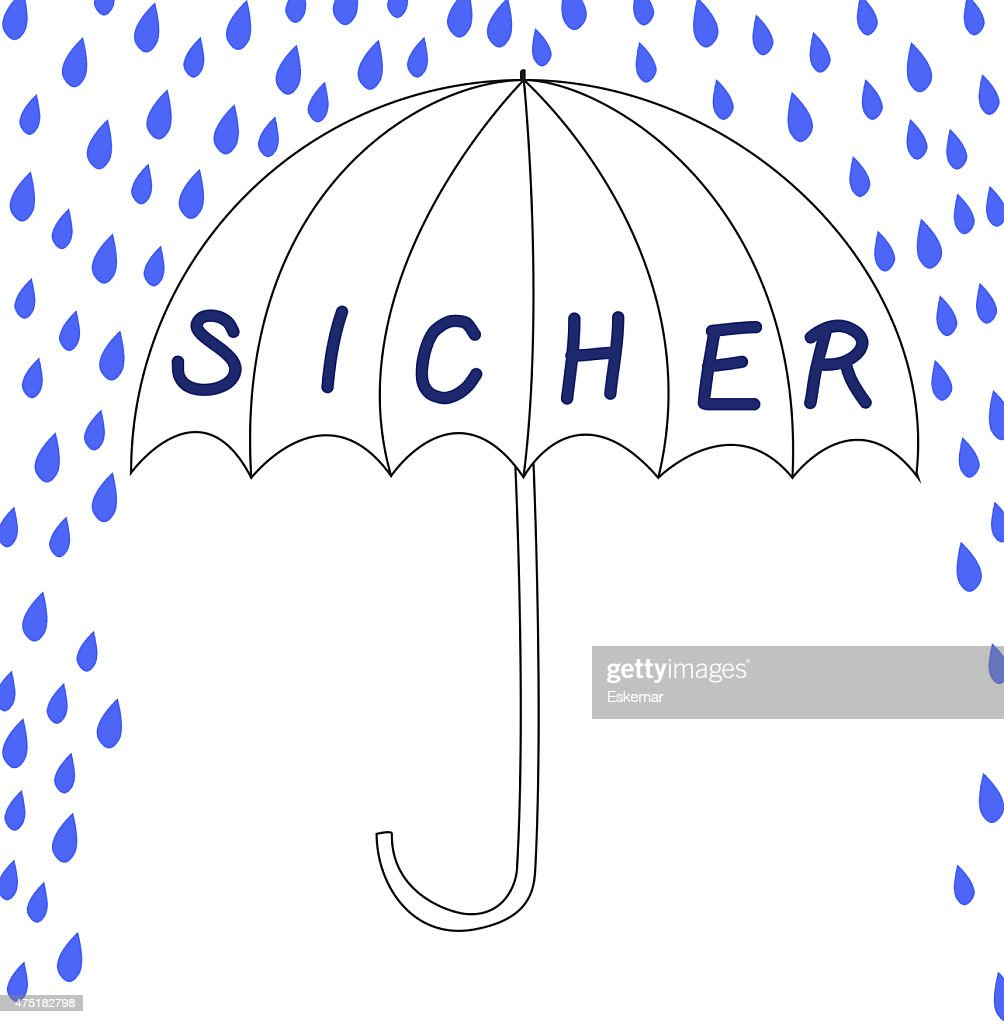 Sicher Safe Sicher Safe In German Language Stock Illustration Getty Images