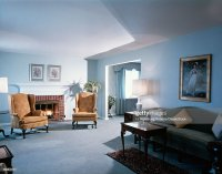 1990s Living Room Blue Stock Photo   Getty Images