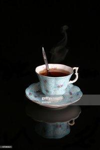 Antique Blue Tea Cup Stock Photo | Getty Images