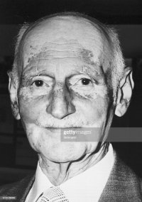 Recent headshot of Otto Frank, father of Anne Frank whose ...