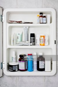 Bathroom Medicine Cabinet Stock Photo