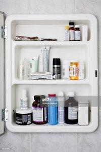 Bathroom Medicine Cabinet Stock Photo