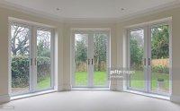 Bay Window Patio Doors Stock Photo   Getty Images