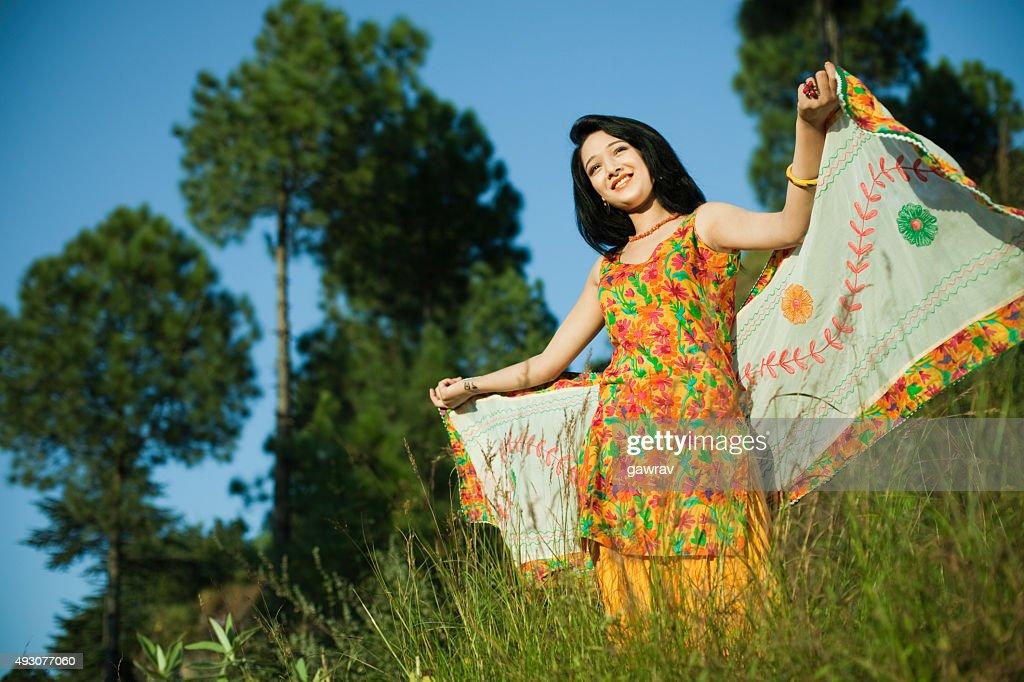Back Side Girl Wallpaper Beautiful Indian Girl Flying Dupatta Like Her Wings In