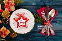 Christmas Table Decoration Christmas Dinner Plate Cutlery ...