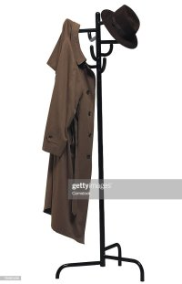 Coat Rack With Coat And Hat Stock Photo | Getty Images