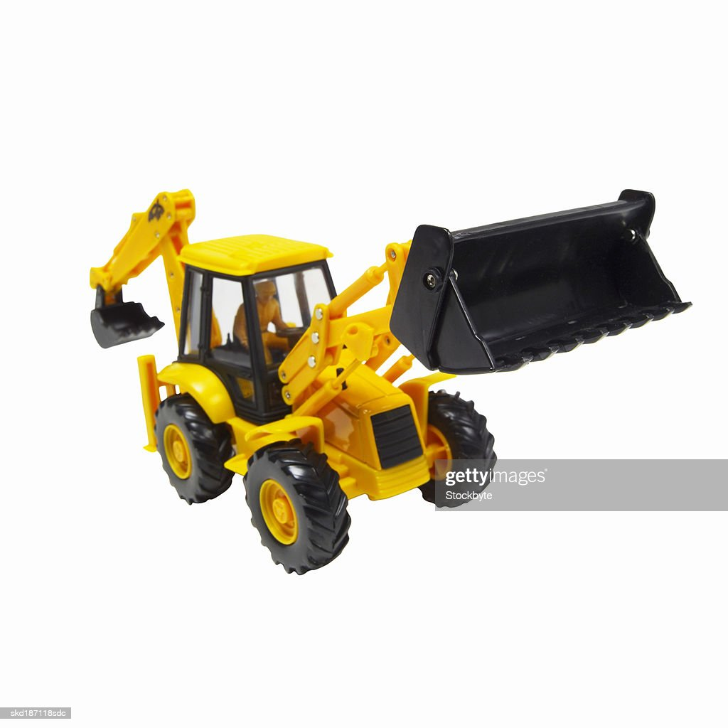 Digger Toy Elevated View Of A Toy Digger Stock Photo Getty Images