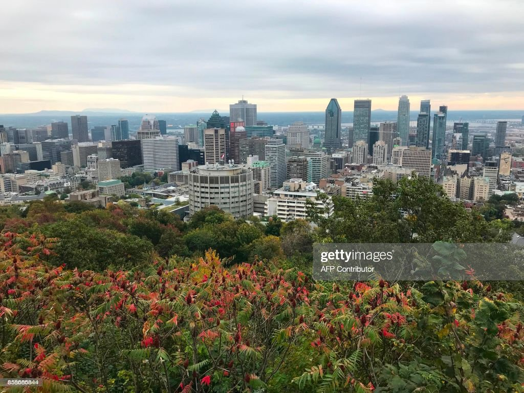 Quebec Montreal General View Of The City Of Montreal In Quebec Canada Take On