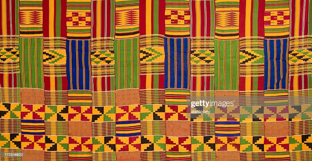 Ghana Traditional Kente Cloth Stock Photo