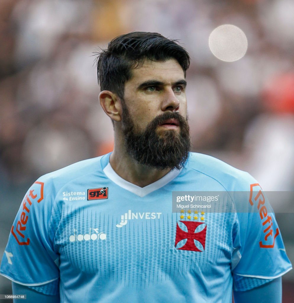 And Vasco Da Gama Goalkeeper Fernando Miguel Of Vasco Da Gama Looks On Before A