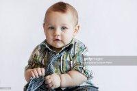 Little Boy Wearing Tie Stock Photo | Getty Images