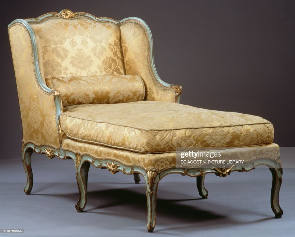 Chaise Style Louis Xv Style Chaise Longue France 18th Century News Photo