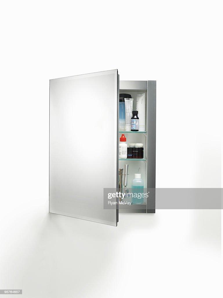 Medicine Cabinet On White Stock Photo