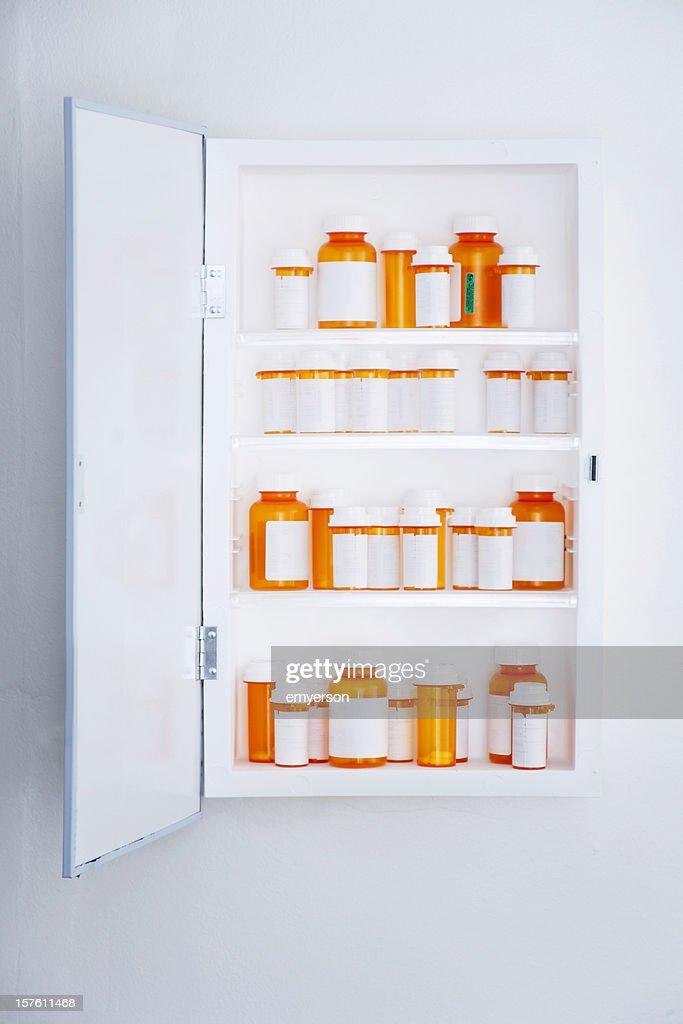 Medicine Cabinet Stock Photo