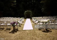 Outdoor Wedding Ceremony Set Up Stock Photo | Getty Images