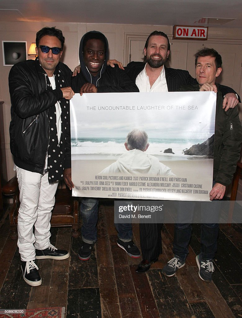 the uncountable laughter of the sea special screening paris kain james samuel patrick brendan o neill and sean dower attend a